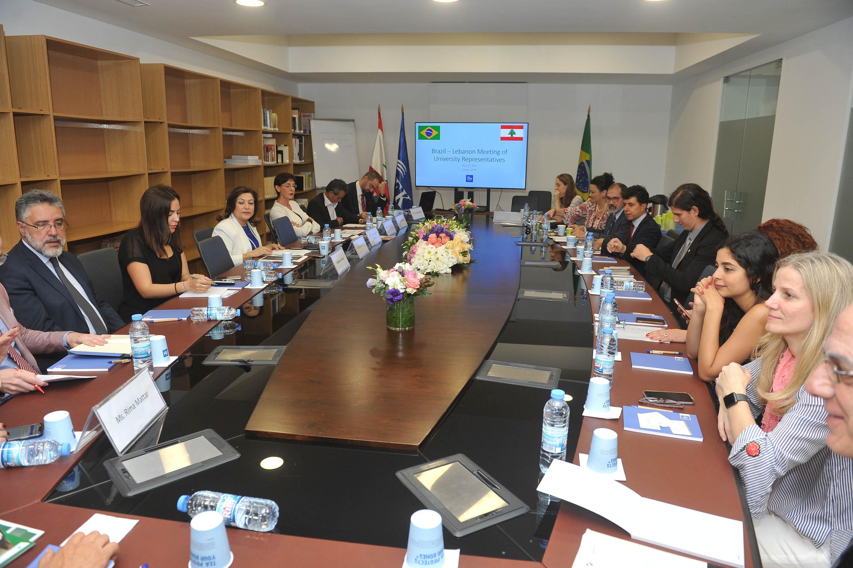 اجتماع ممثلي الجامعات اللبنانية والبرازيلية في جامعة الروح القدس