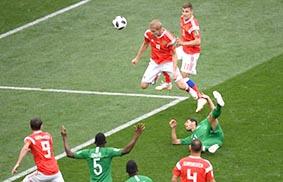 مونديال روسيا 2018 (النسخة الـ21 من البطولة) - فوز روسيا على السعودية