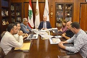 دبوسي هنأ جامعة بيروت العربية بفوزها في مباراة تصميم الصناعات الخشبية
