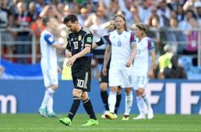ميسي يزعزع ثقة الأرجنتين بتعادل مرّ مع ايسلندا « الجريئة»
