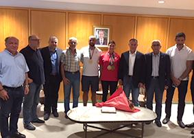 استقبال رسمي لبطلي الاسياد باسيل وموسى في صالون الشرف