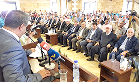 سقلاوي يرعى افتتاح قاعة الريجي العامة  في الحيصة العكارية