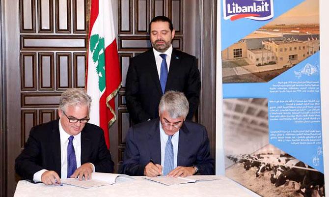 الحريري يرعى توقيع إتفاقية لمعالجة نفايات «ألبان لبنان»: نشجع كل المصانع في البقاع على ان تحذو حذوه