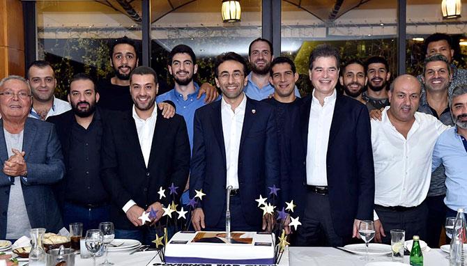 شبيب كرّم نادي بيروت وتسلّم كأس المركز الثاني في بطولة الاندية العربية