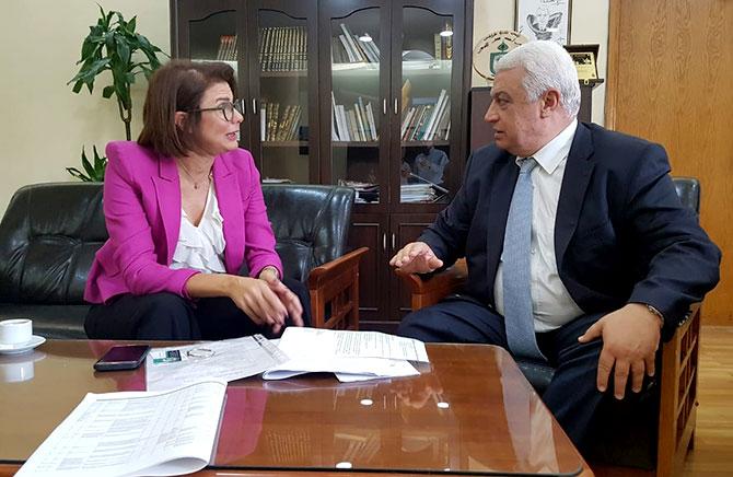 قمرالدين عرض مشاريع طرابلس مع ريا الحسن