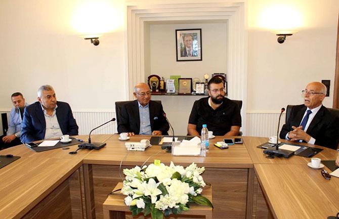 احمد الحريري يلتقي مجلس إدارة غرفة صيدا وجمعية تجار المدينة