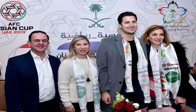 البخاري وكيدانيان والشامسي وشخصيات تابعوا مباراة لبنان والسعودية في أمسية رياضية