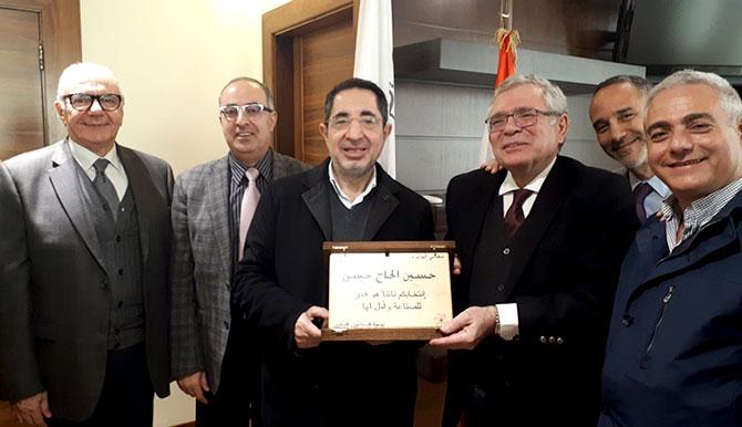 الحاج حسن لوفد جمعية الصناعيين: نسعى لتخفيف القيود على معبر نصيب