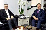 بطيش استقبل ابو فاعور وسفير الصين  ووفد منظمة التعاون الاقتصادي والتنمية
