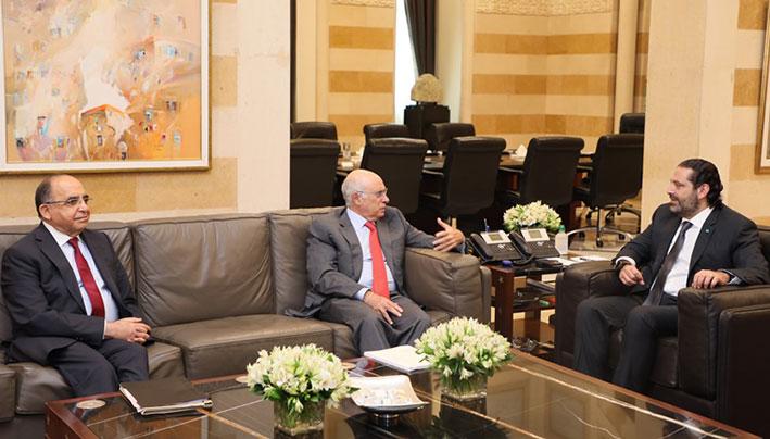 الحريري تابع ملف اليد العاملة الفلسطينية مع وزير العمل