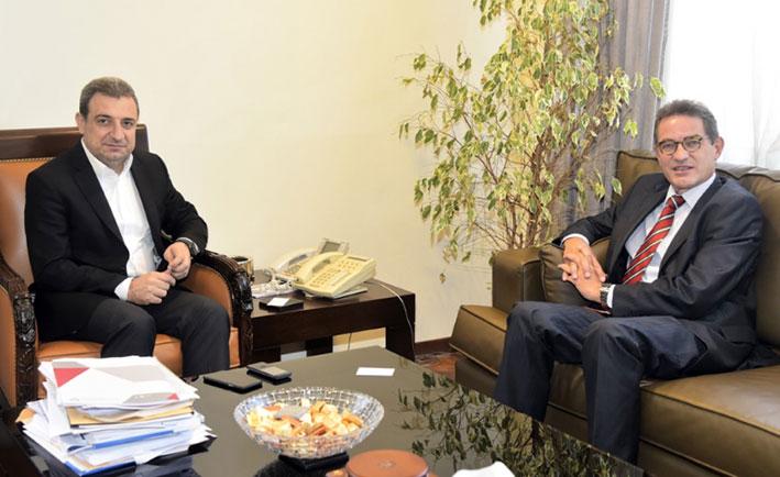 أبو فاعور يلتقي سفير ألمانيا  وممثل الامم المتحدة للتنمية