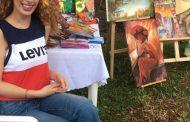 الفنانة التشكيلية مديانا مكحل: لوحاتي مستوحاة من خيالي وما افكر به