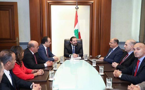 الحريري يلتقي وزير الزراعة الأردني وسيدات أعمال لبنانيات وقبرصيات ويونانيات