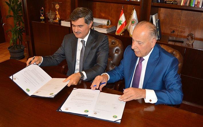 توقيع  إتفاقية تعاون بين غرفة طرابلس والشمال وجامعة البلمند