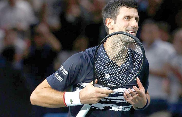 كرة مضرب / دورة باريس - ديوكوفيتش ونادال الى ربع النهائي