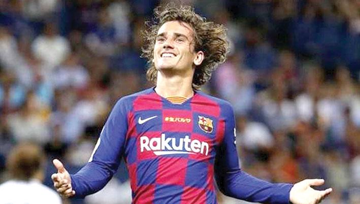 كرة قدم / البطولات الأوروبية المحلية - غريزمان ينقذ برشلونة من الحرج أمام إيبيزا