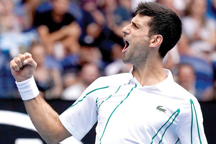 كرة مضرب / بطولة أوستراليا المفتوحة -  ديوكوفيتش يعبر من راونيتش ويتأهب لــ «فيدرر»