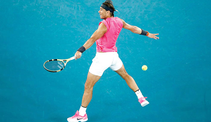 كرة مضرب / بطولة أوستراليا المفتوحة - تأهل الإسباني نادال والروسي مدفيديف