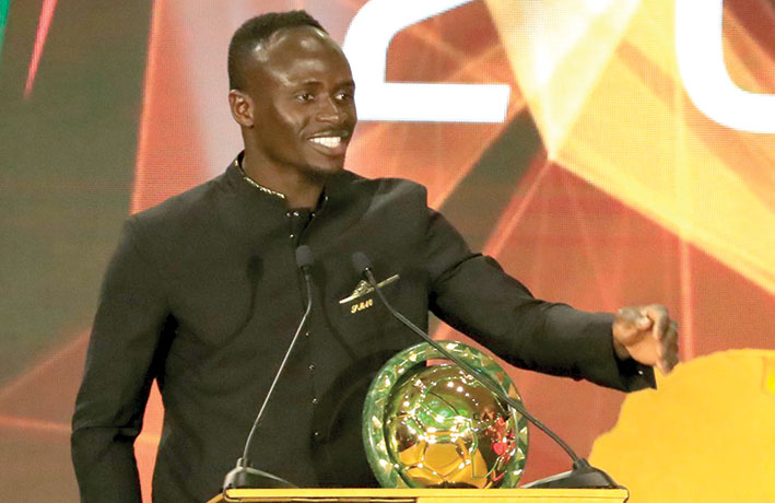 ساديو ماني يتوّج بجائزة أفضل لاعب أفريقي لعام 2019