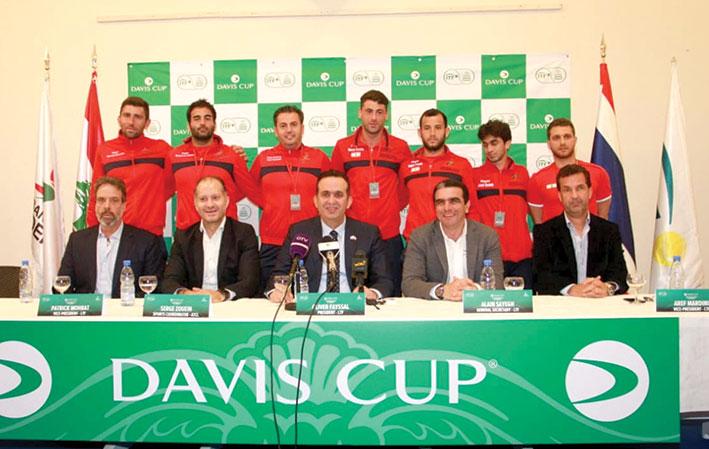 العد التنازلي لمباراة لبنان وتايلاند في الدور الإقصائي لمسابقة كأس ديفيس