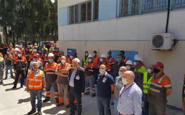 عمال «هولسيم» يحتجون  على توقف العمل في مقلعها