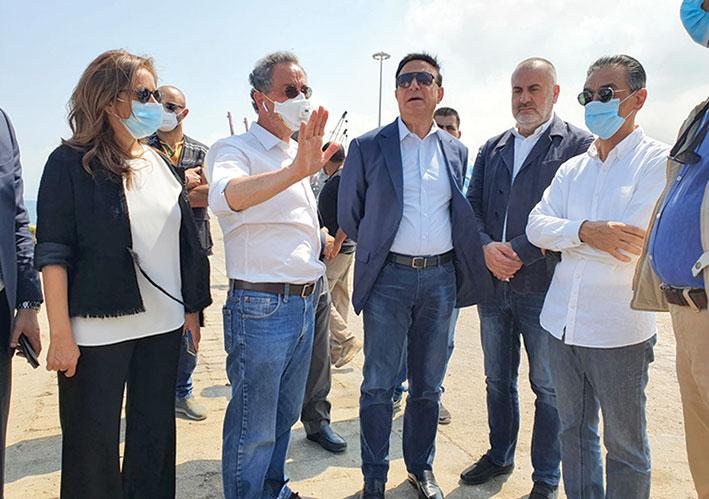 وزراء تفقدوا مرفأ بيروت واطلعوا على استعداداته لاستقبال البواخر
