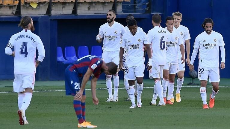 ريال مدريد ينجز مهمته أمام ليفانتي
