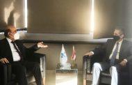 وزني بحث مع وهبه في موازنة سفارات لبنان في الخارج