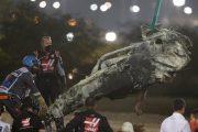 حادث مروع لغروجان يتسبب في توقف سباق البحرين لبطولة العالم لسباقات الفورمولا 1
