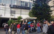 إعتصام لموظفي مياه لبنان الجنوبي في صيدا