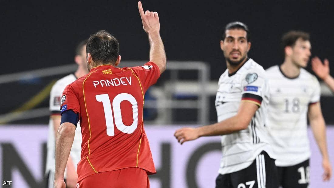 مقدونيا الشمالية تفجر  مفاجأة وتهزم ألمانيا في عقر دارها