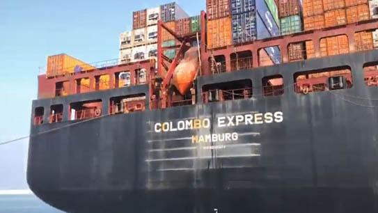 مرفأ طرابلس يستقبل أكبر سفينة