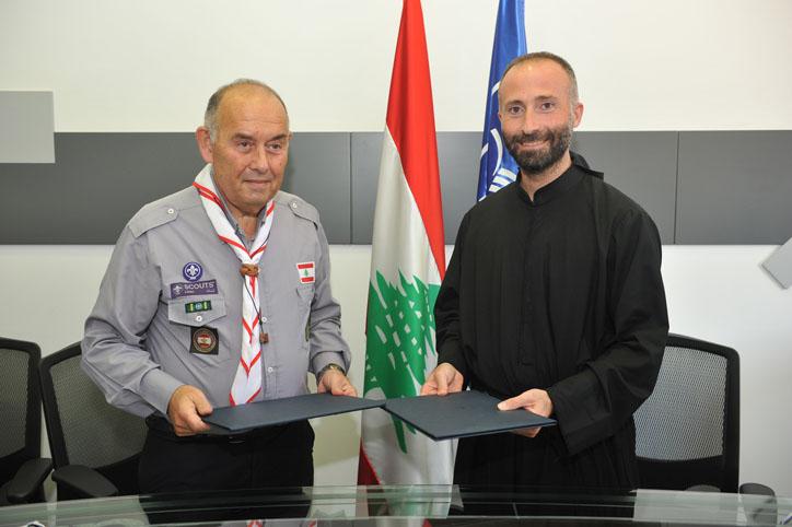 تعاون بين جامعة الروح القدس واتحاد كشّاف لبنان