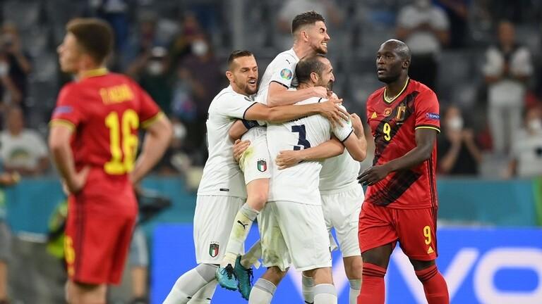 إيطاليا تقصي بلجيكا وتضرب موعدا ناريا مع إسبانيا في نصف نهائي أمم أوروبا