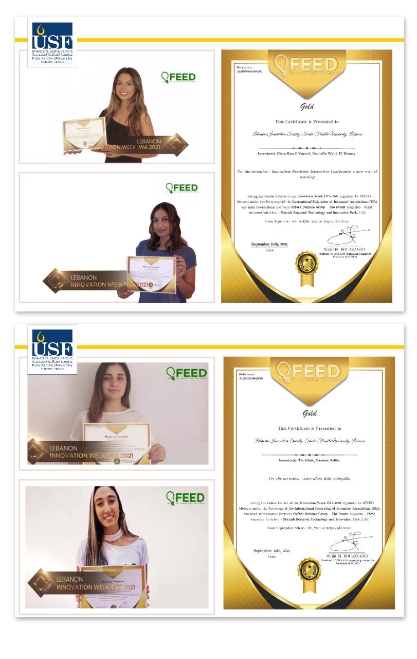 فوز لبنان ب 6 ميداليات ذهبية في أسبوع الإبتكارات IWA 2021 في المغرب