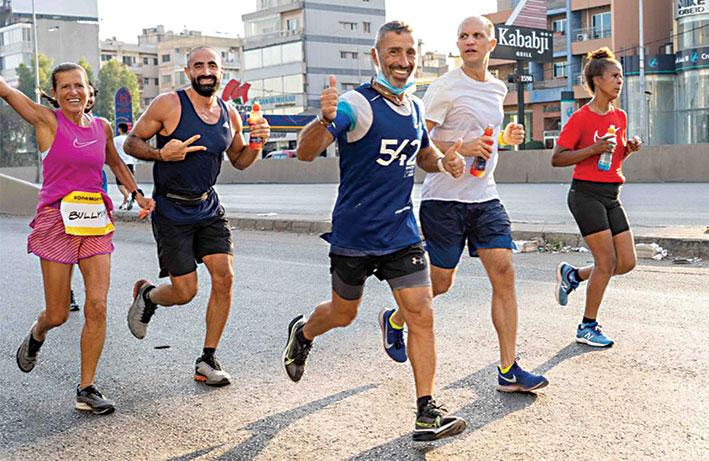 بيروت ماراثون وإدراك نظّما سباقاً في الركض  بمناسبة اليوم العالمي للصحة النفسيّة