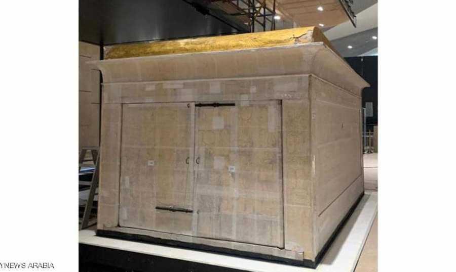 نقل مقصورة توت عنخ آمون الى المتحف المصري الكبير