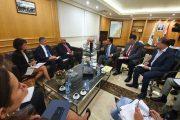 حميه يعرض مع البنك الدولي إعادة إعمار المرفأ والنقل العام والطرقات