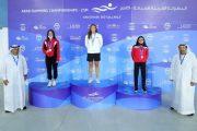 ذهبية ثانية للسباحة سيمون كبارة في البطولة العربية بأبو ظبي
